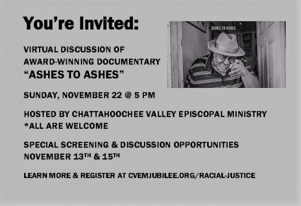 JOIN US: VIRTUAL DISCUSSION OF 'ASHES TO ASHES'