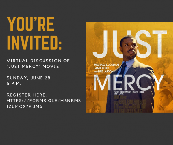 Virtual Just Mercy movie discussion