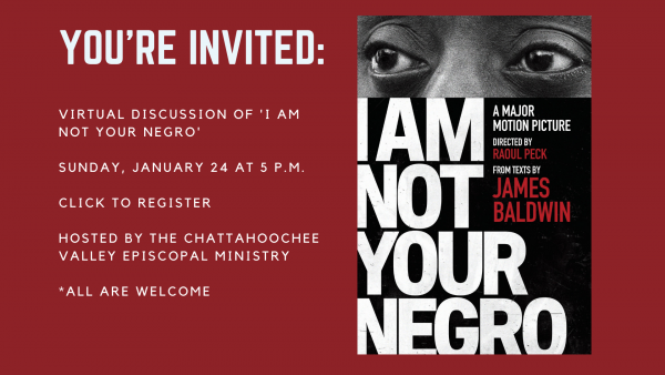 JOIN US: VIRTUAL DISCUSSION OF 'I AM NOT YOUR NEGRO'